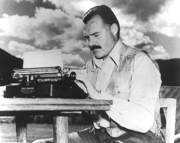 Image result for hemingway typewriter