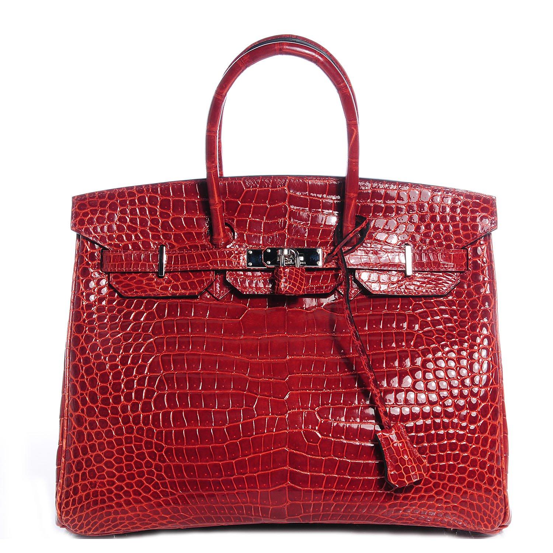 620a771dda8 Recorde de preço. O recorde da mala Hermès Kelly mais cara pertence a uma  Hermès 32cm Matte Geranium Porosus Crocodile   Black Togo Leather Sellier  Kelly ...