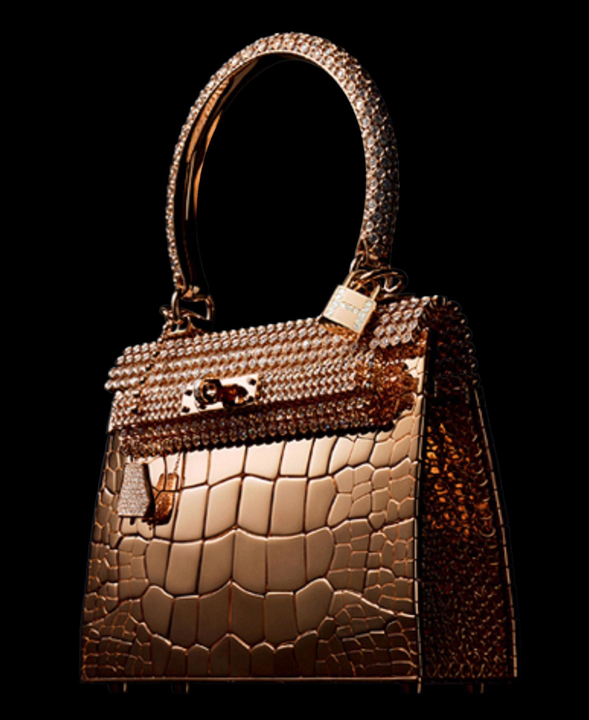 27c90f2e29 Conçu par le joaillier Pierre Hardy, ce sac en or rose et ses 1160 diamants  incrustés est un vrai bijou en soi.