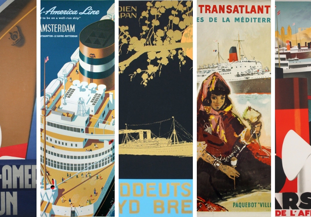 Posters from the lost world of the great ocean liners