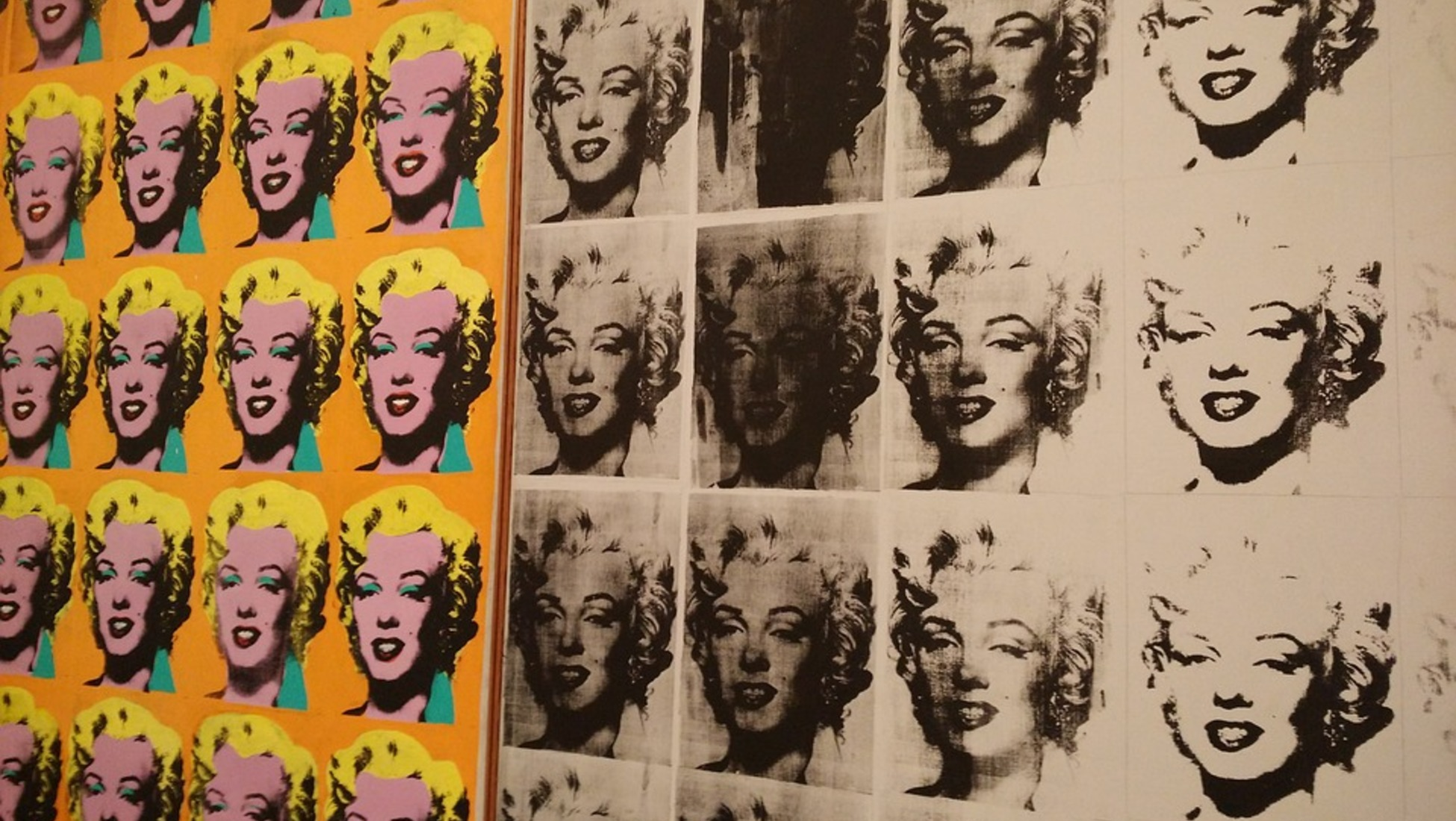 andy warhol's famous marilyn monroe painting Andy warhol used a range of mediums for creating art, including painting by hand, fashion, film, writing and music, but he is best known for his silkscreen printing technique before moving on to use photographs later in his career, warhol originally based these prints on his own drawings, as was.