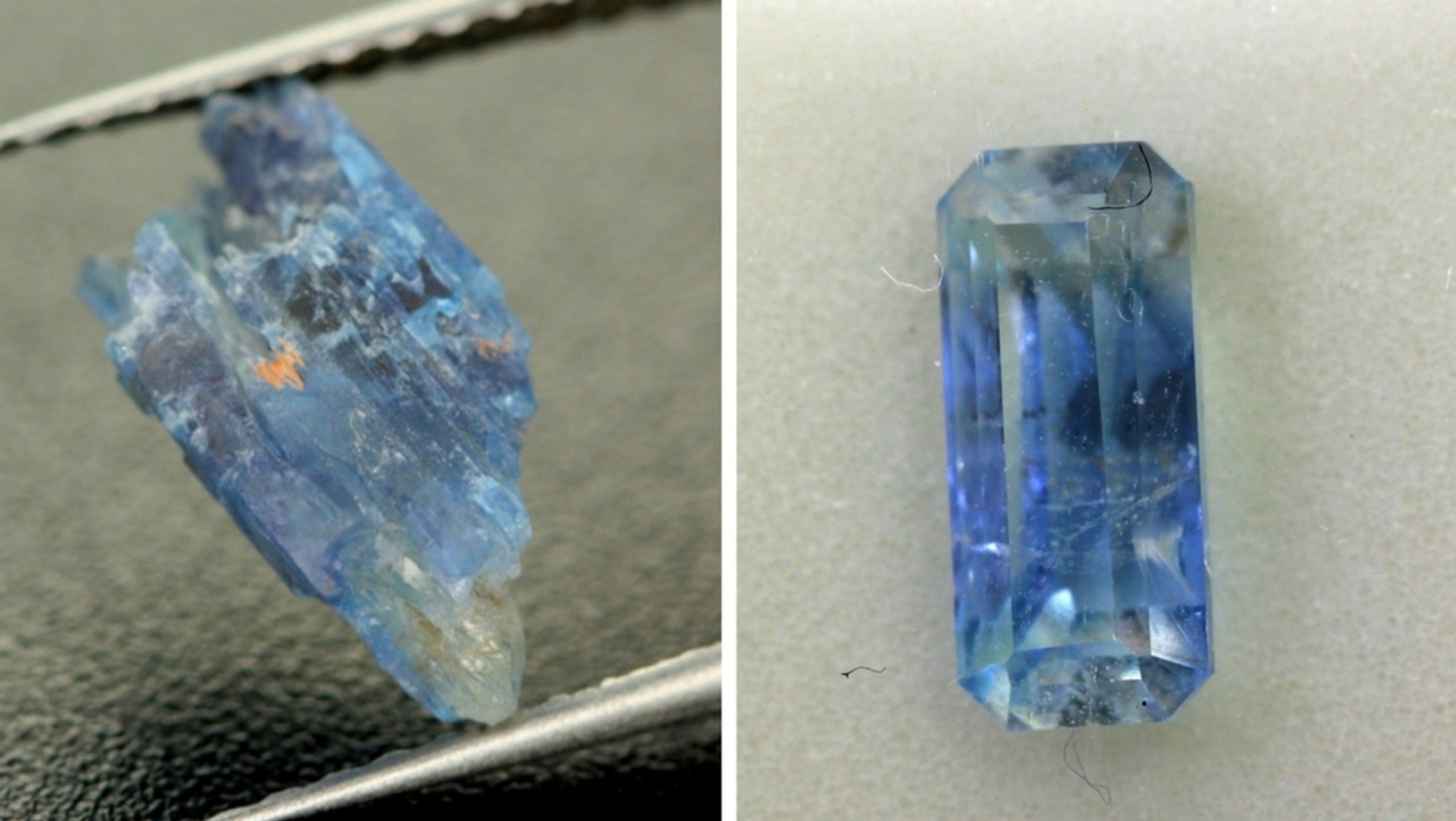 rare carat minerals gemstone and clinihumite pin