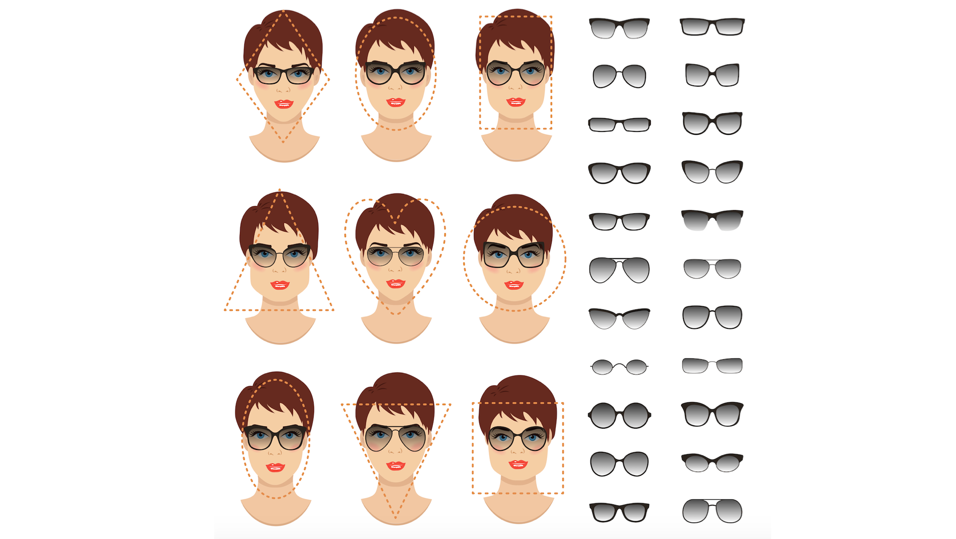 a936a26a9b Our in-house fashion expert put together this guide with some of her  suggestions for finding the perfect sunglasses to fit your face that you  can find at ...