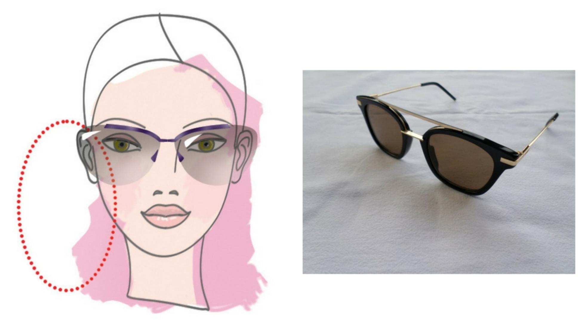 07c937a2f9 Aunque casi cualquier forma quedará excelentemente en un rostro ovalado,  Clementine tiene dos sugerencias: Este par de gafas de sol Fendi FF 0224/S  y este ...