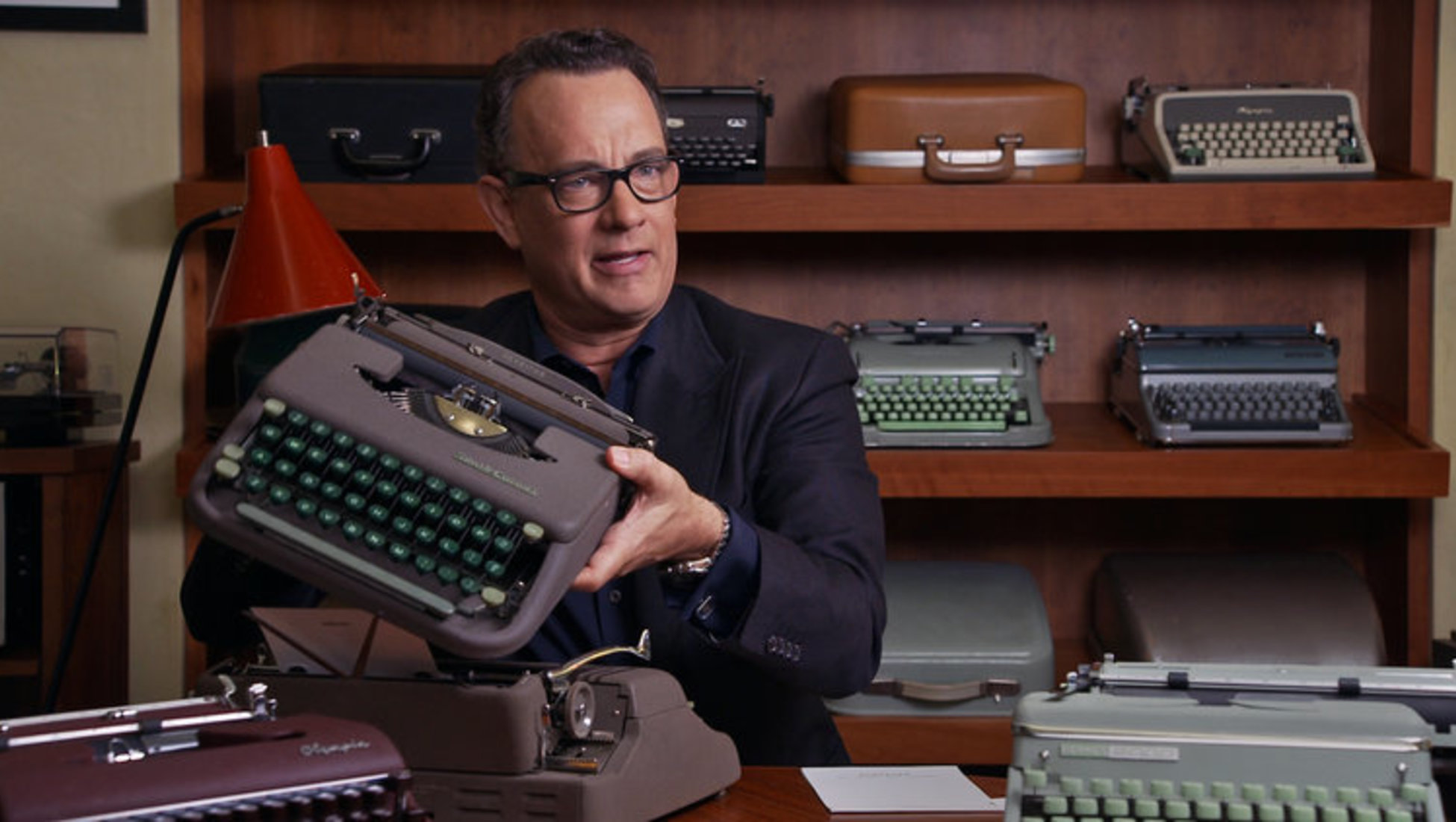 Hanks managed to get a bargain from the man and bought a Hermes 2000: the cornerstone of a collection that nowadays comprises of more than 100 typewriters.